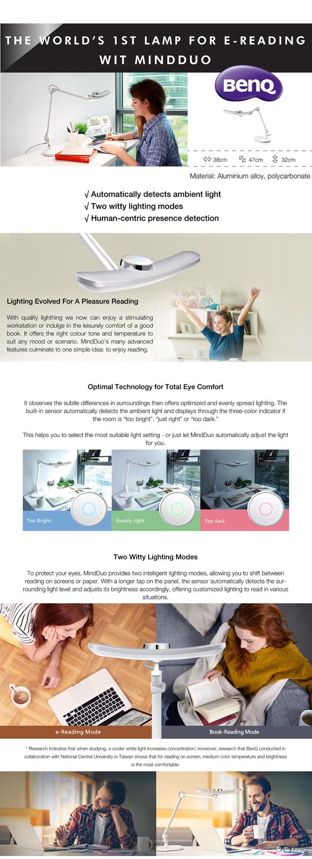 BenQ WiT MindDuo Study Table Lamp Malaysia
