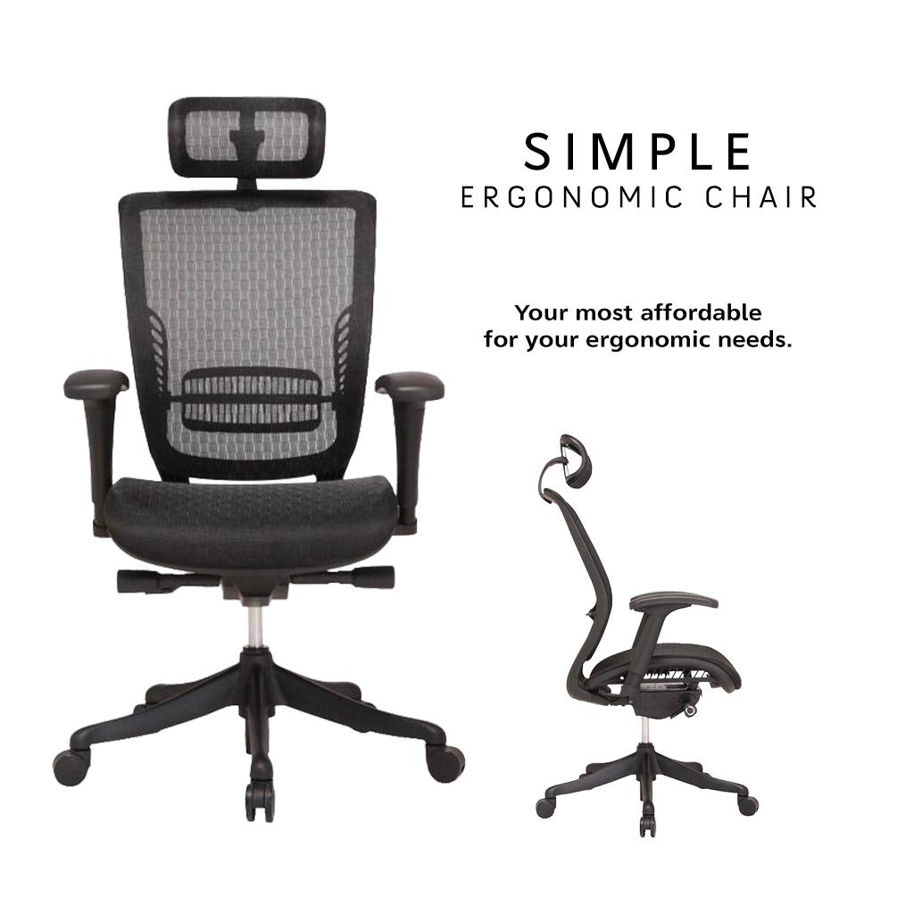 Simple Ergonomic Chair